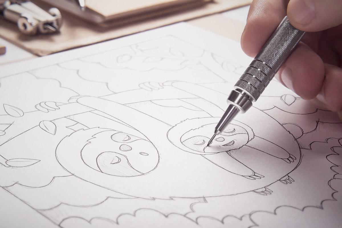 Whimsical Paper Animal Illustrations Vaclav Bicha  Strictlypaper Sloth_skecth
