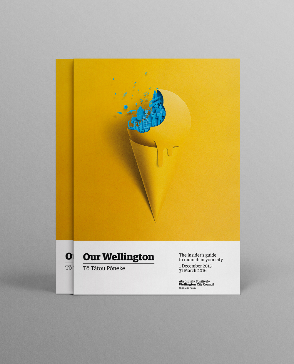 Colorful Poster Series Mimicking Cut Paper for Wellington City Council Summer Series