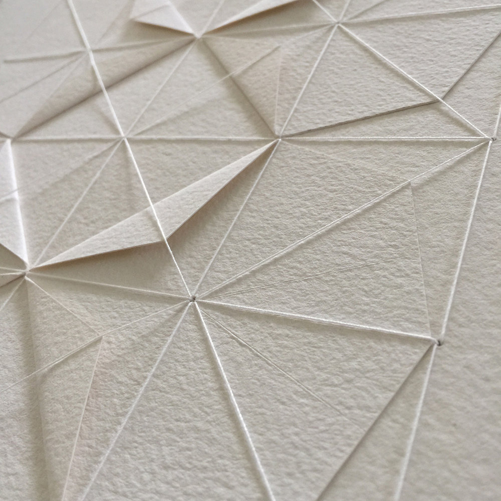 Delicate Stitched Origami Patterns by Liz Sofield