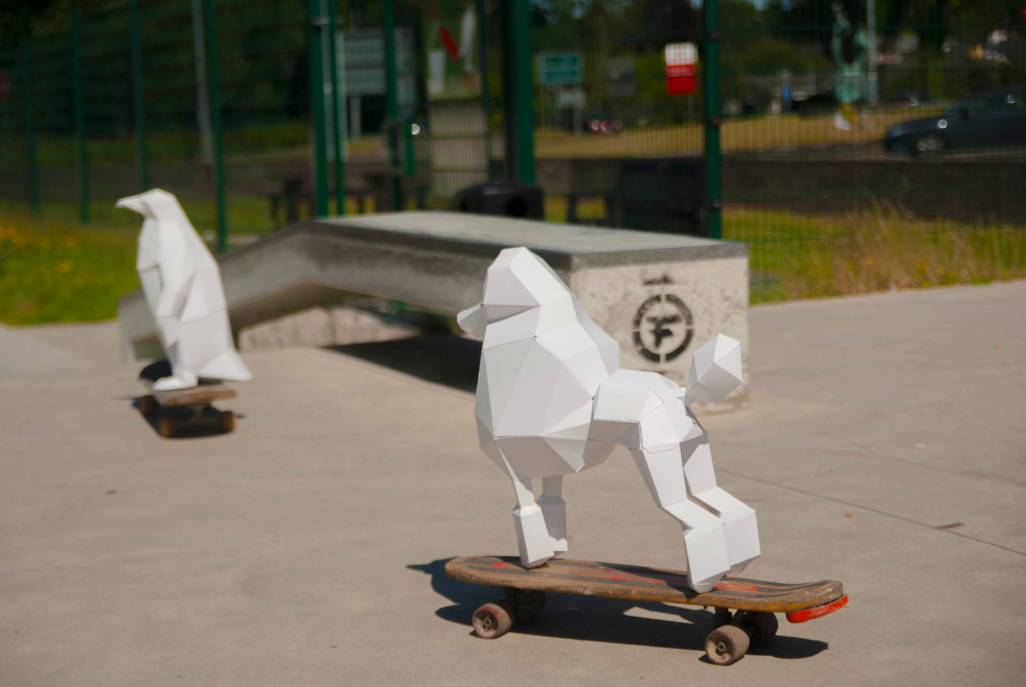 Skateboarding Paper Craft Pets from PaperPetShop
