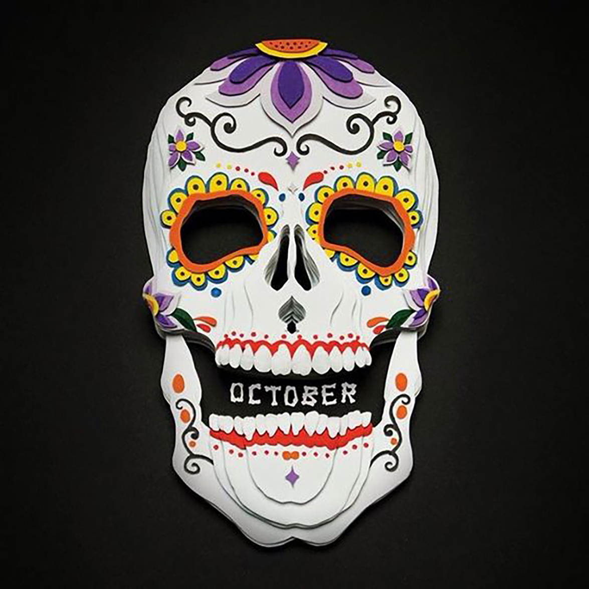 10 Wonderfully Crafted Paper Skulls Just in Time for Halloween - Ceres Lau