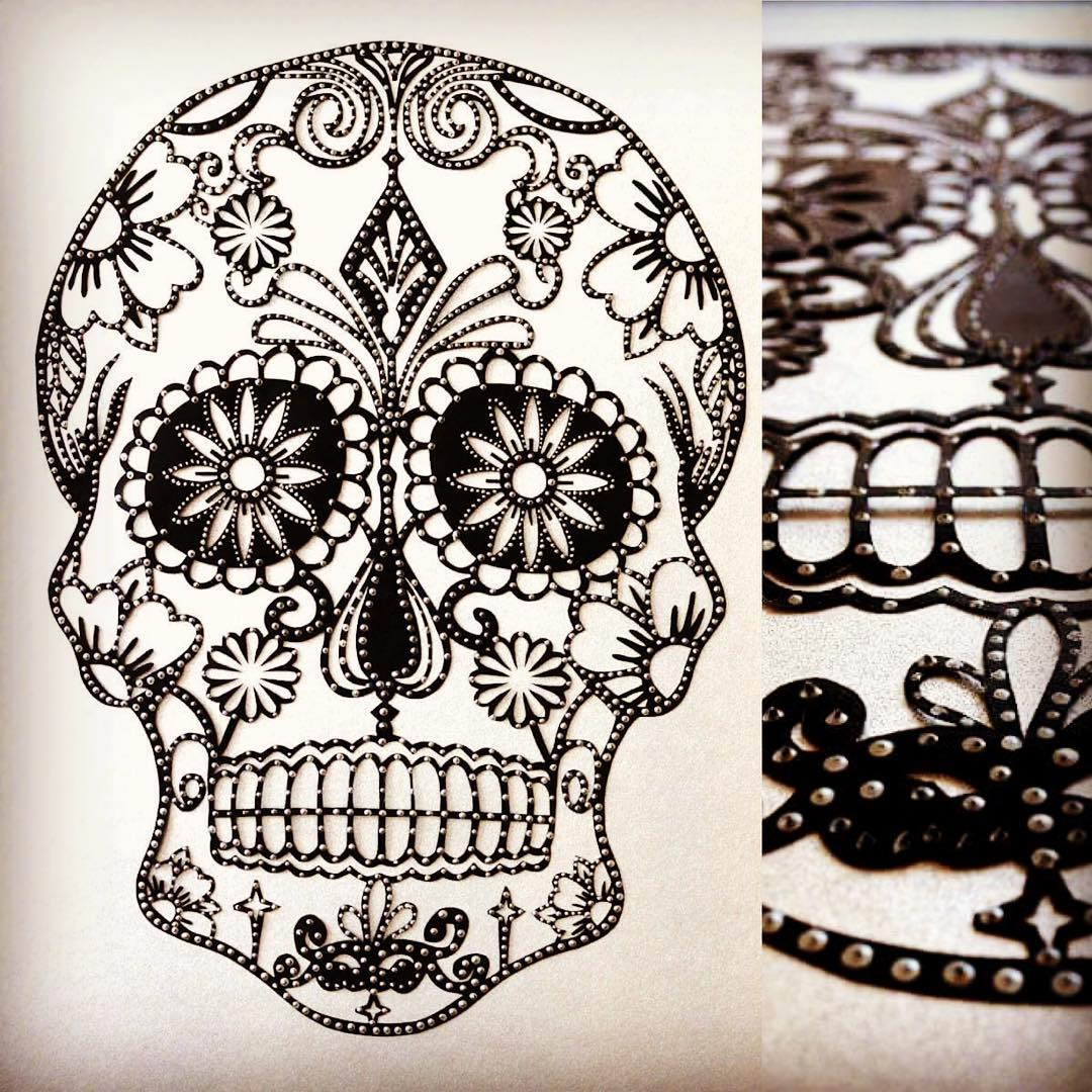 10 Wonderfully Crafted Paper Skulls Just in Time for Halloween - Chris Pope