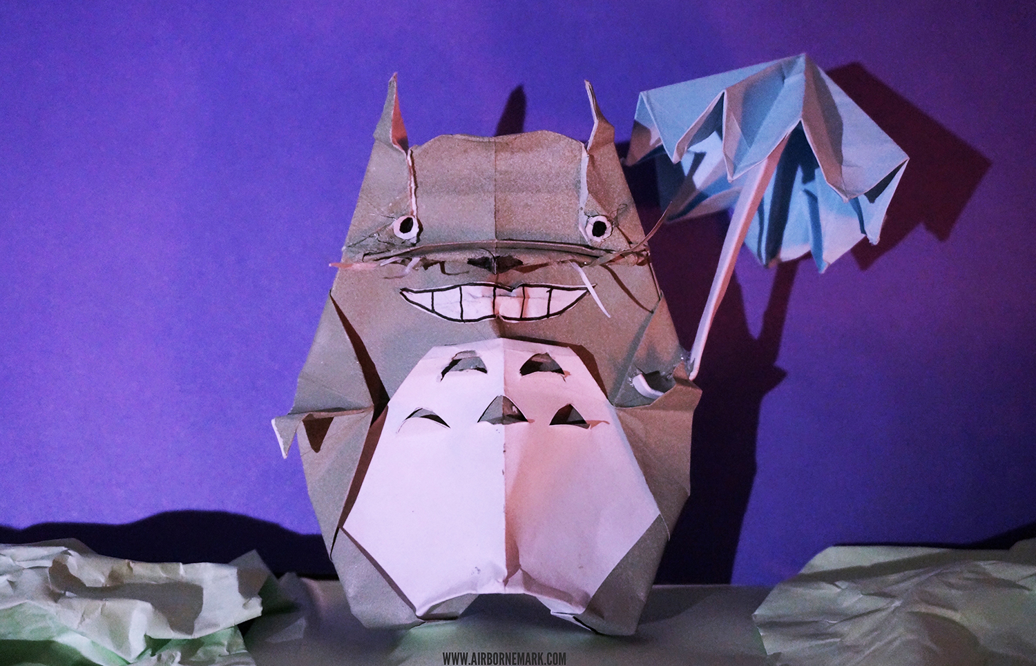 Artist Creates Origami Street Art Based Off of Classic Film Totoro (Video)