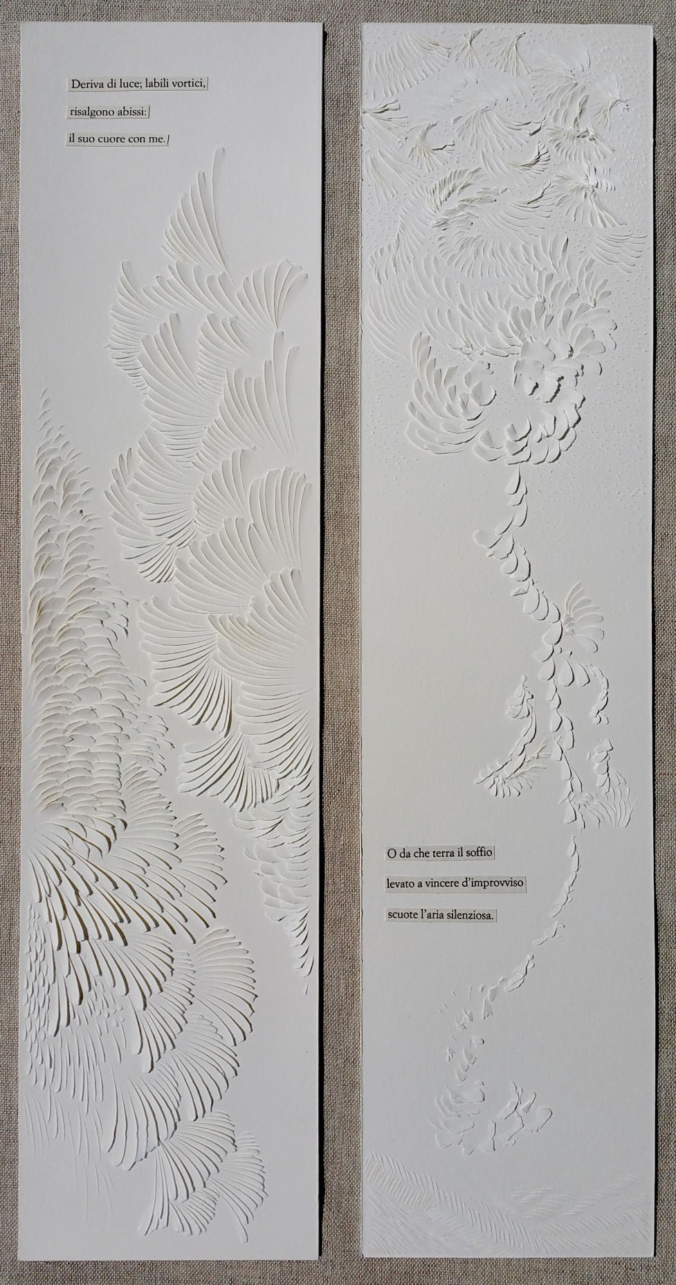 Interview with Domitilla Biondi, Carved Paper Poetry Artist - Quasimodo Remixed