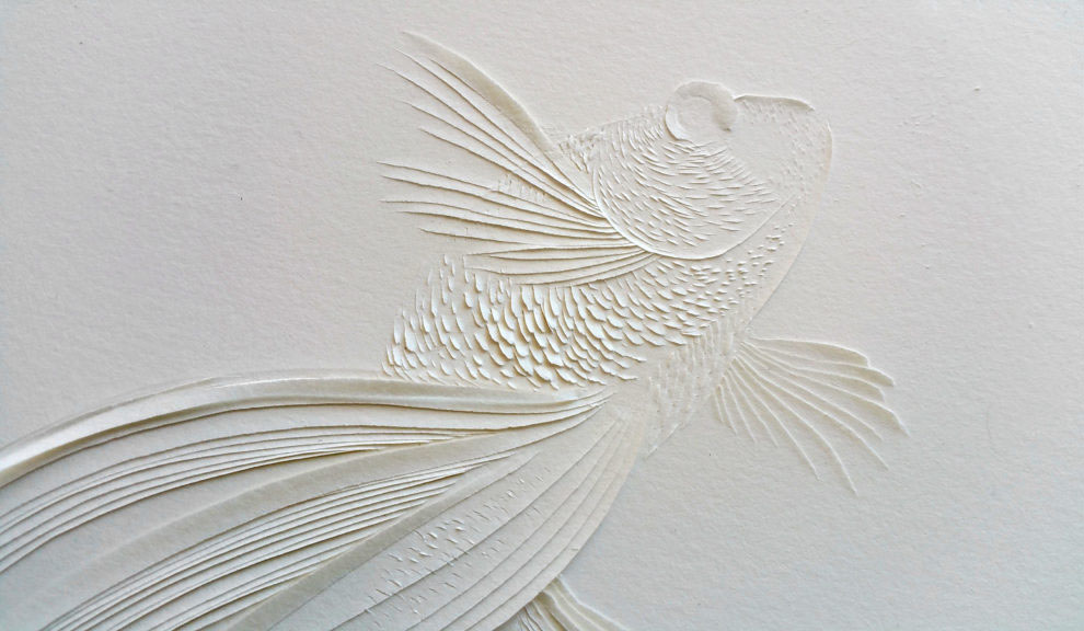 Interview with Domitilla Biondi, Carved Paper Poetry Artist - Kingyo Series