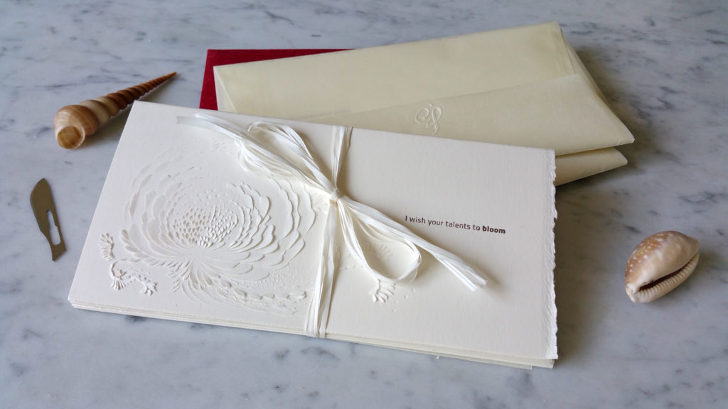 Interview with Domitilla Biondi, Carved Paper Poetry Artist - Gift Card I Wish Set