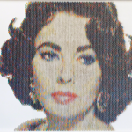 New Portraits Made From Hundreds of Punched Paint Chips - Liz Claiborne
