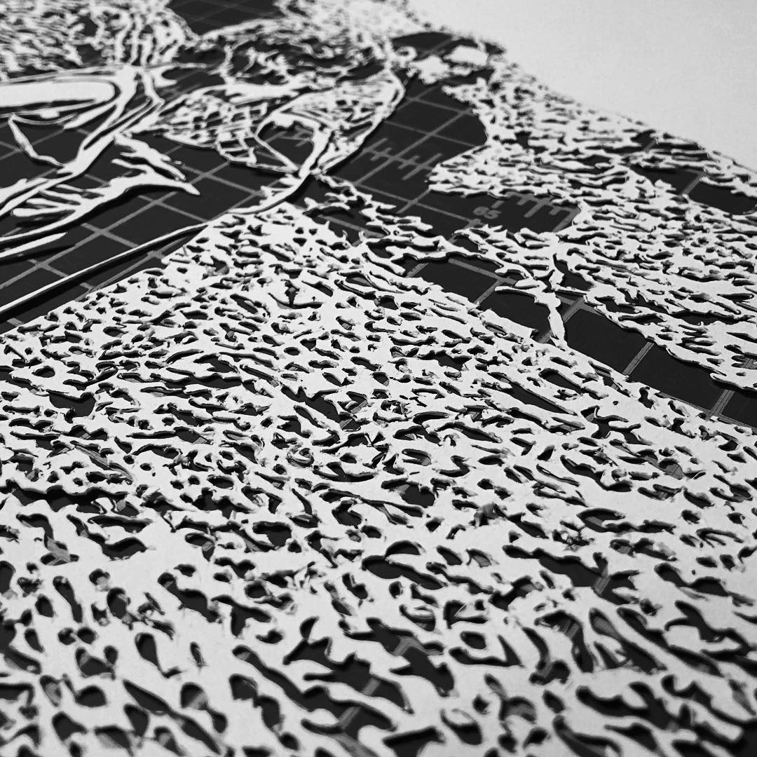 Thomas Witte Creates Hyperrealistic Cut Paper Illustrations Based On Photographs - Details