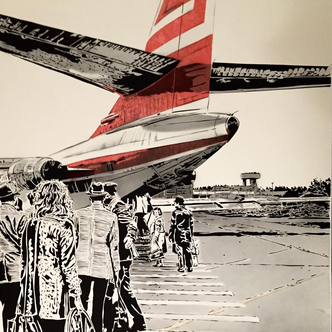 Thomas Witte Creates Hyperrealistic Cut Paper Illustrations Based On Photographs - Flight