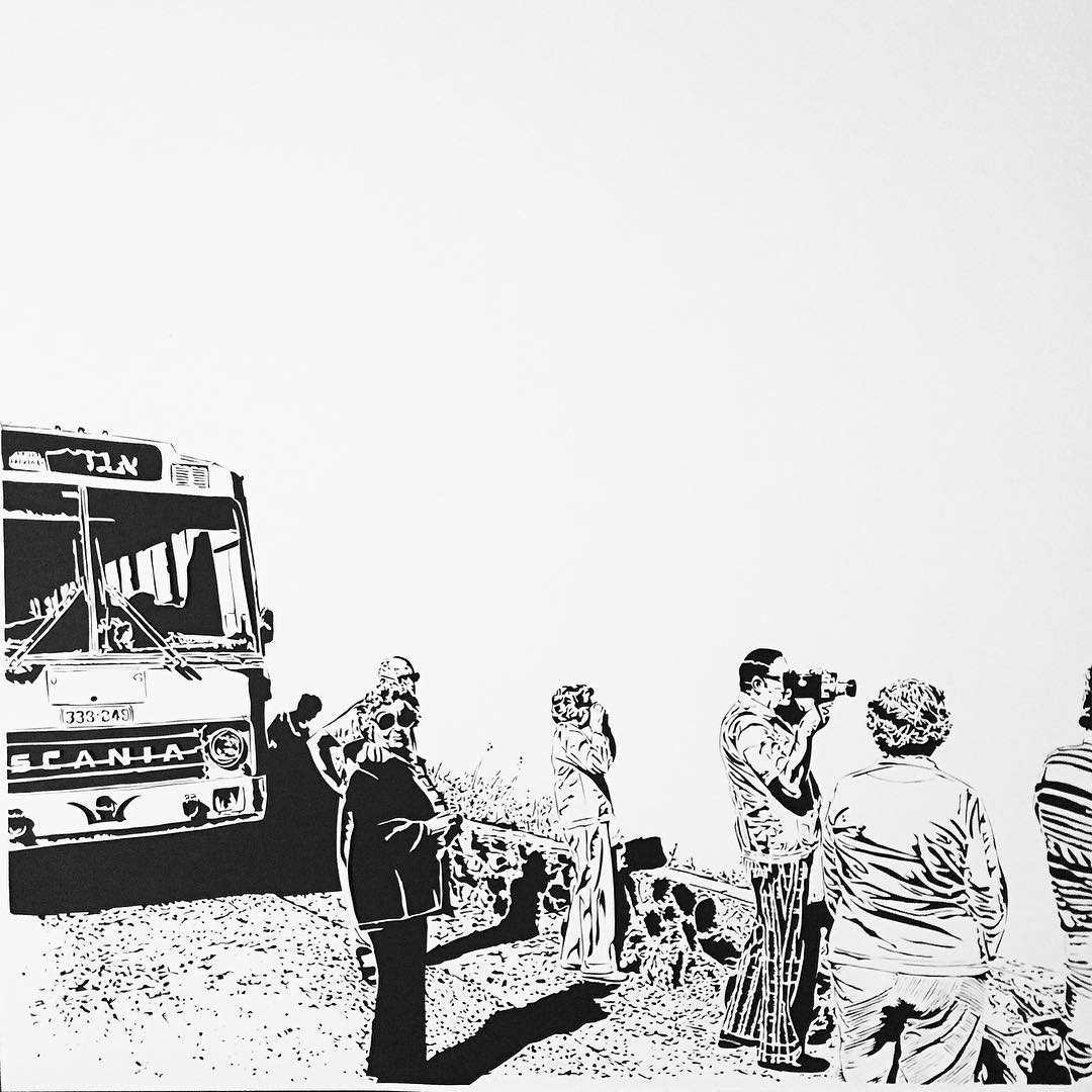 Thomas Witte Creates Hyperrealistic Cut Paper Illustrations Based On Photographs - Isreal 1972
