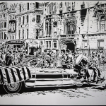 Thomas Witte Creates Hyperrealistic Cut Paper Illustrations Based On Photographs - Parade 1969