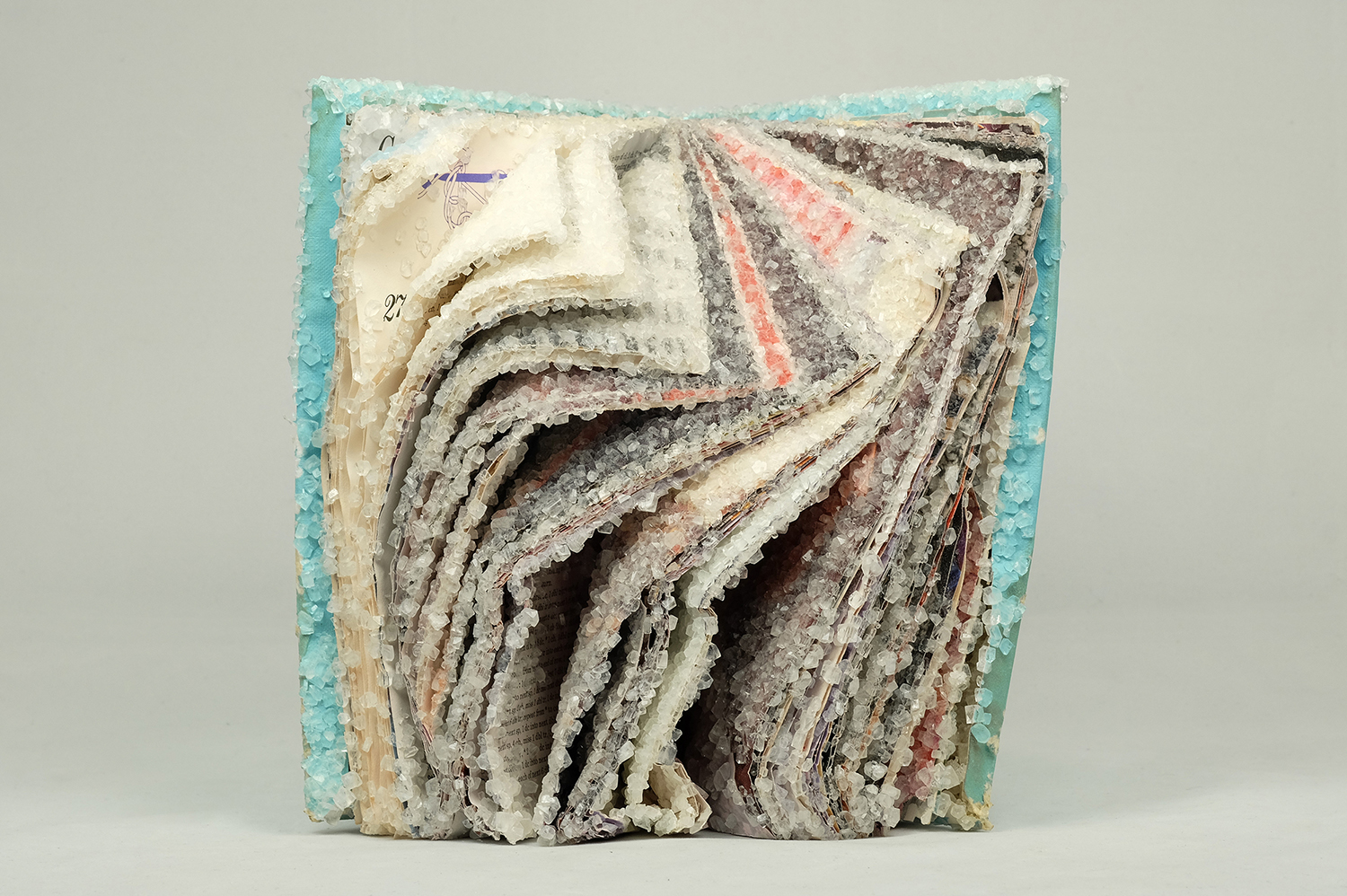 Artist Alexis Arnold Creates Crystalized Book Sculptures Frozen in Time