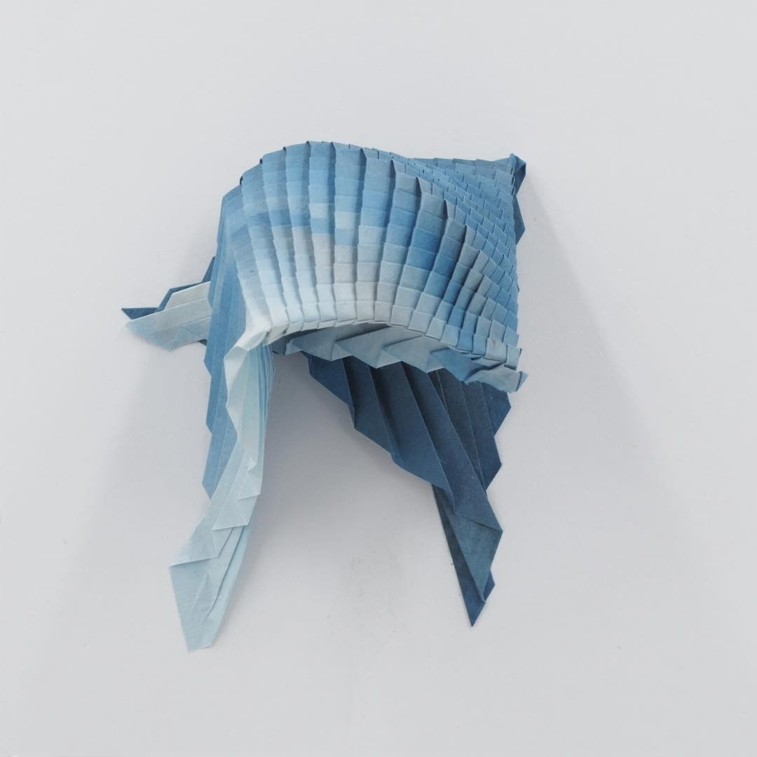 Artist Folds Beautifully Intricate Origami Tessellations Reminiscent of Sea Creatures