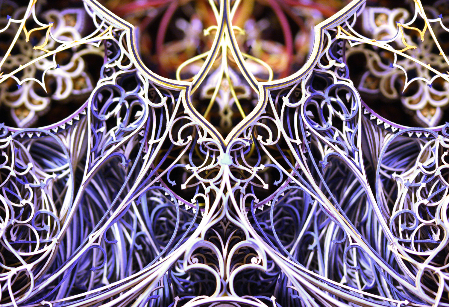 New Intricate Stained Glass Windows From Colorful Laser Cut Paper - Beautiful laser cut paper art eric standley