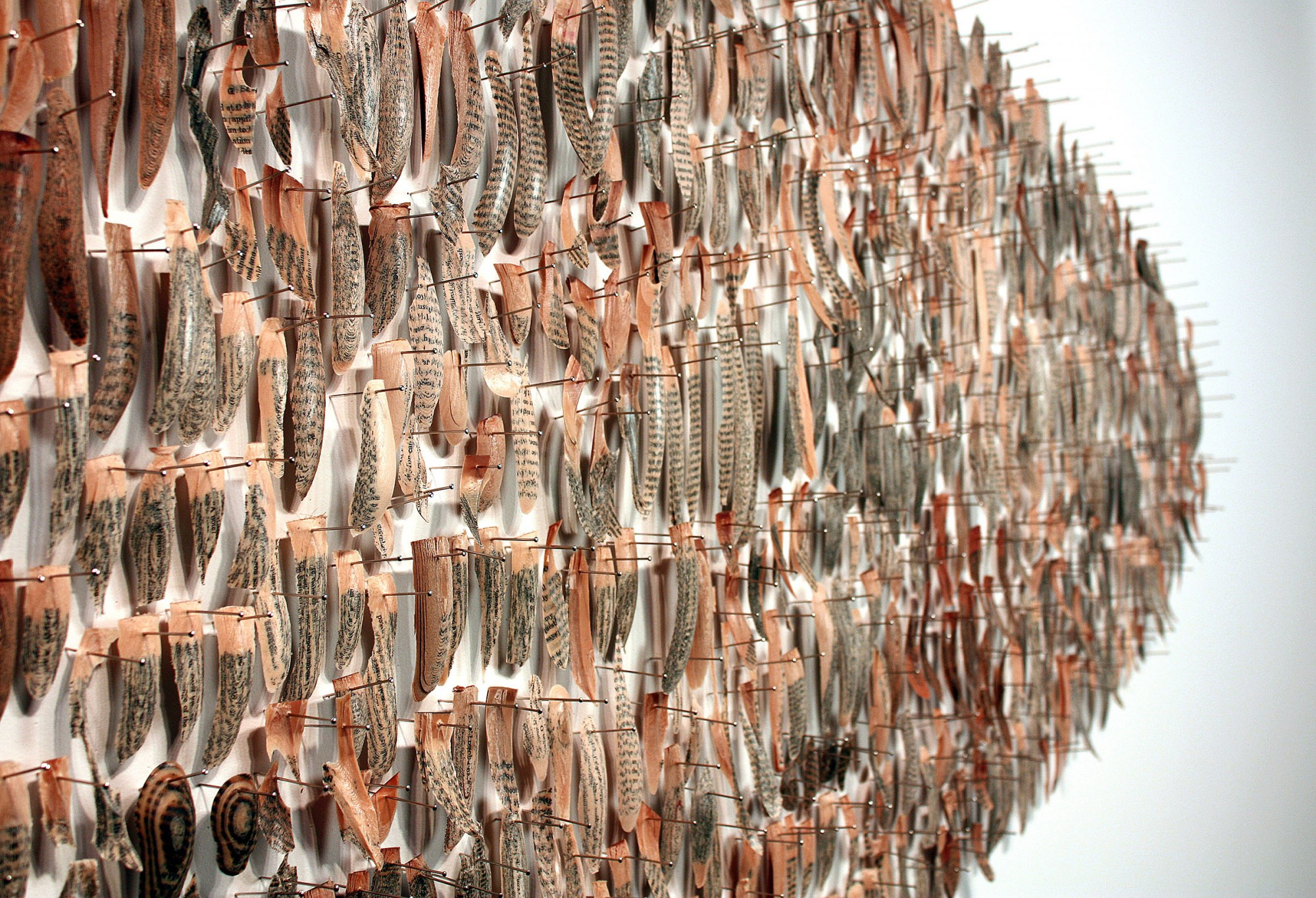 Artist Creates Massive Altered Book Sculptures Coated in Wax by Jessica Drenk - Bibliophylum