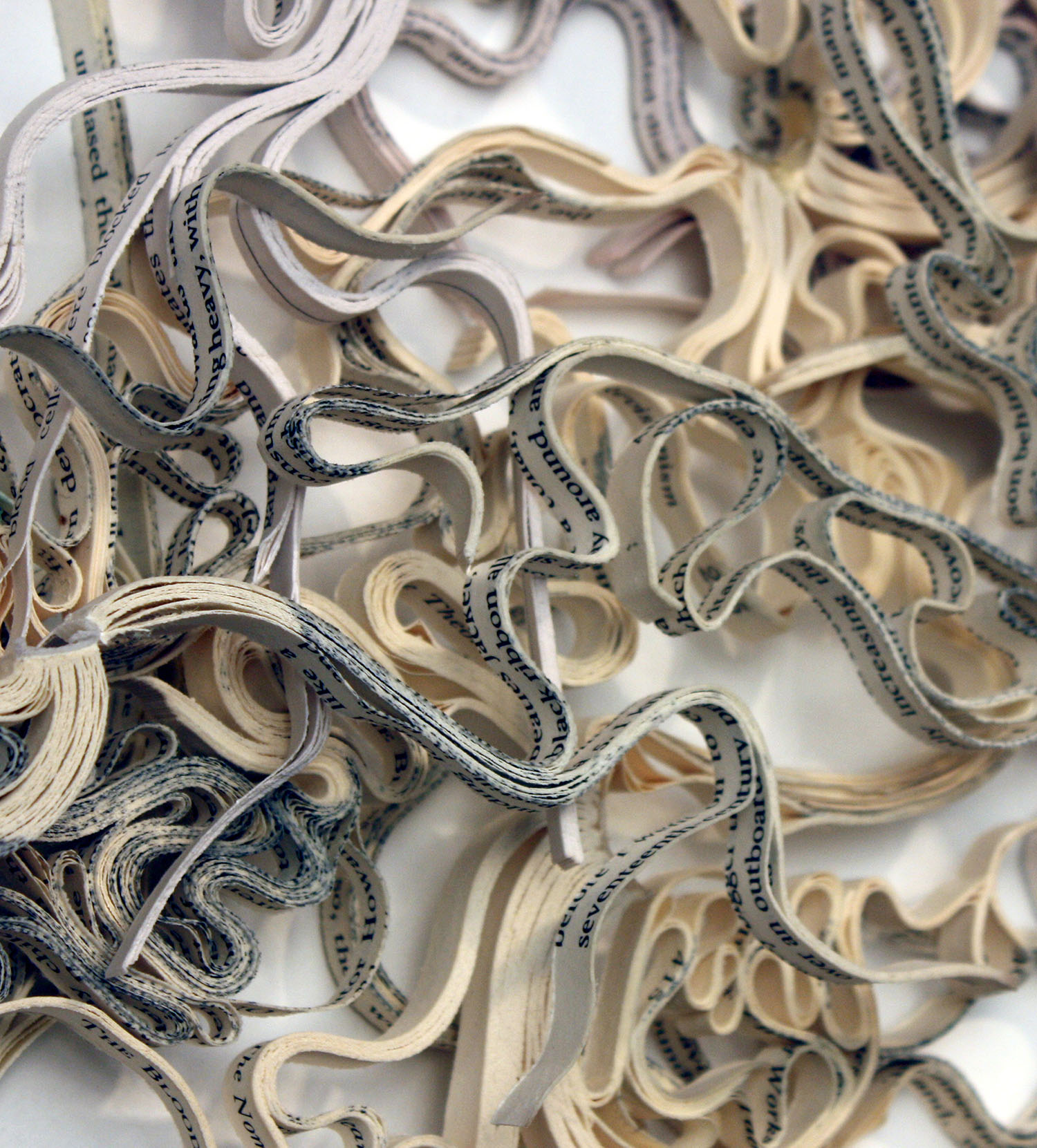 Artist Creates Massive Altered Book Sculptures Coated in Wax by Jessica Drenk - Cerebral Mapping