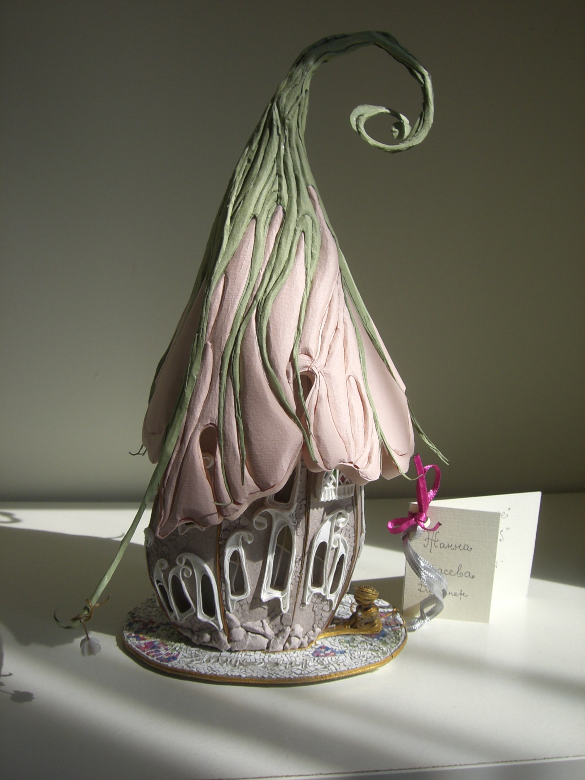 Delicate and Ethereal Paper Fairy Lighthouses by Joanna Karaseva