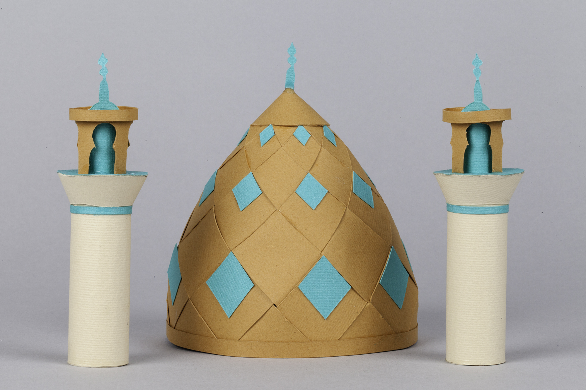 3D Letters for Silk Road Film Festival Crafted From Paper - Arab Dome
