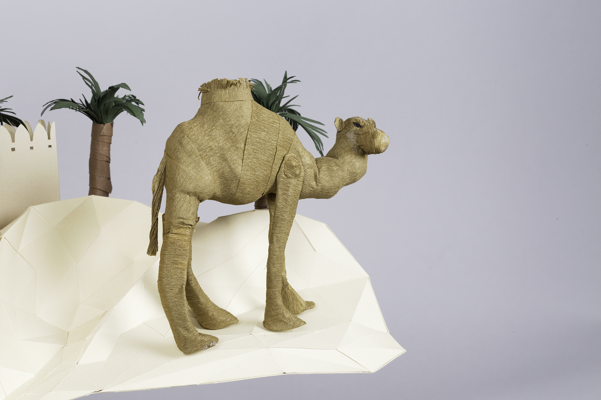 3D Letters for Silk Road Film Festival Crafted From Paper - Camel