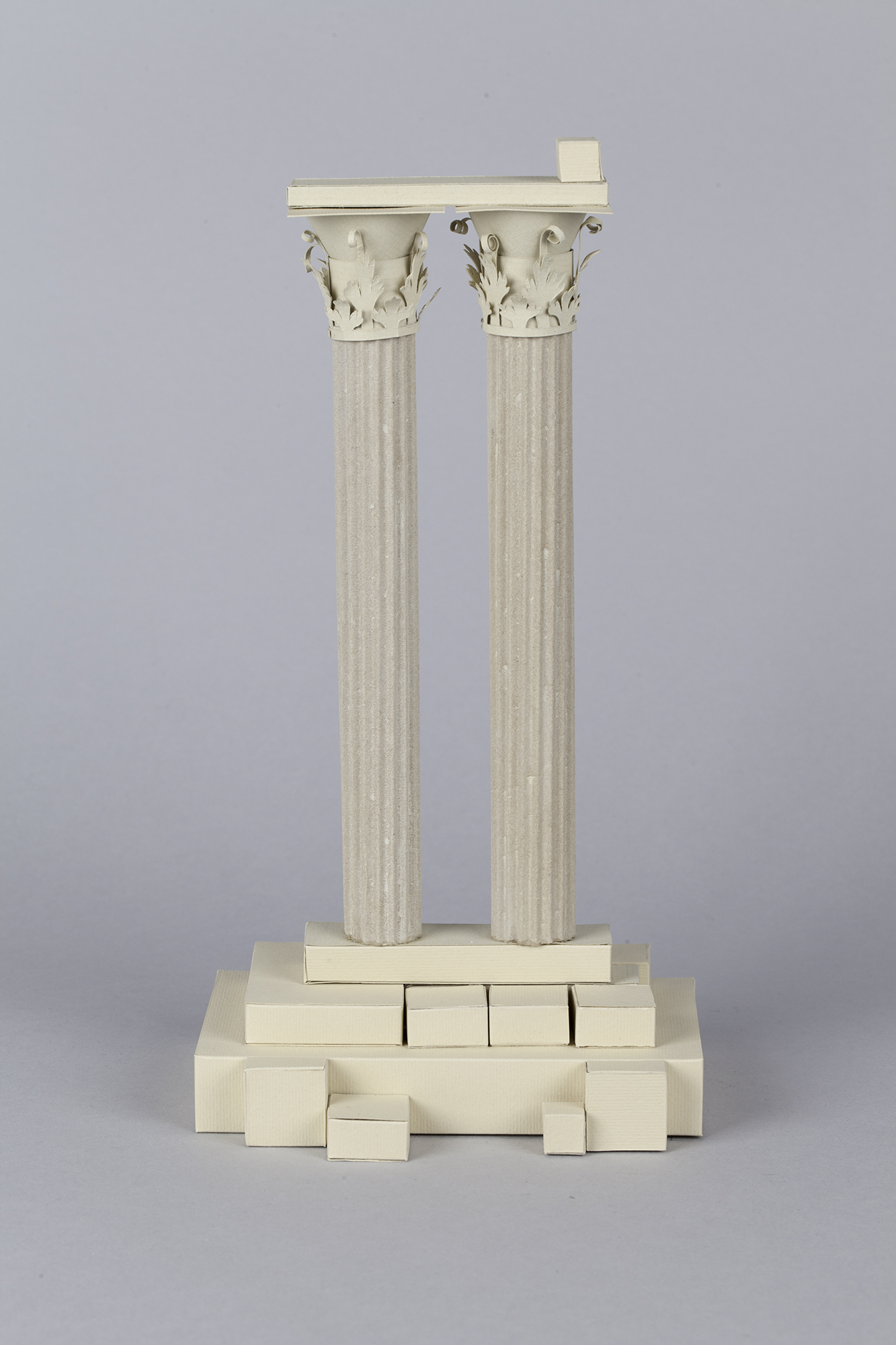 3D Letters for Silk Road Film Festival Crafted From Paper - Greek Columns