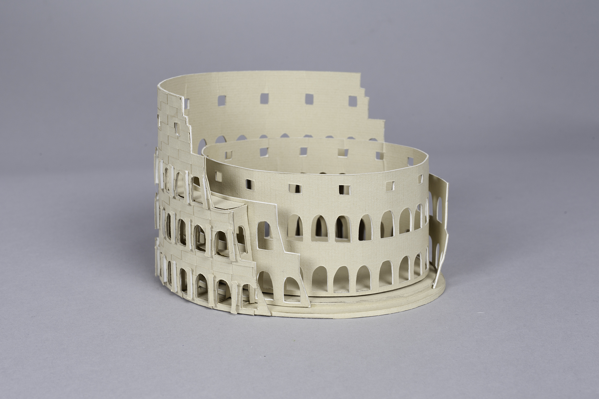 3D Letters for Silk Road Film Festival Crafted From Paper - Rome Amphitheater