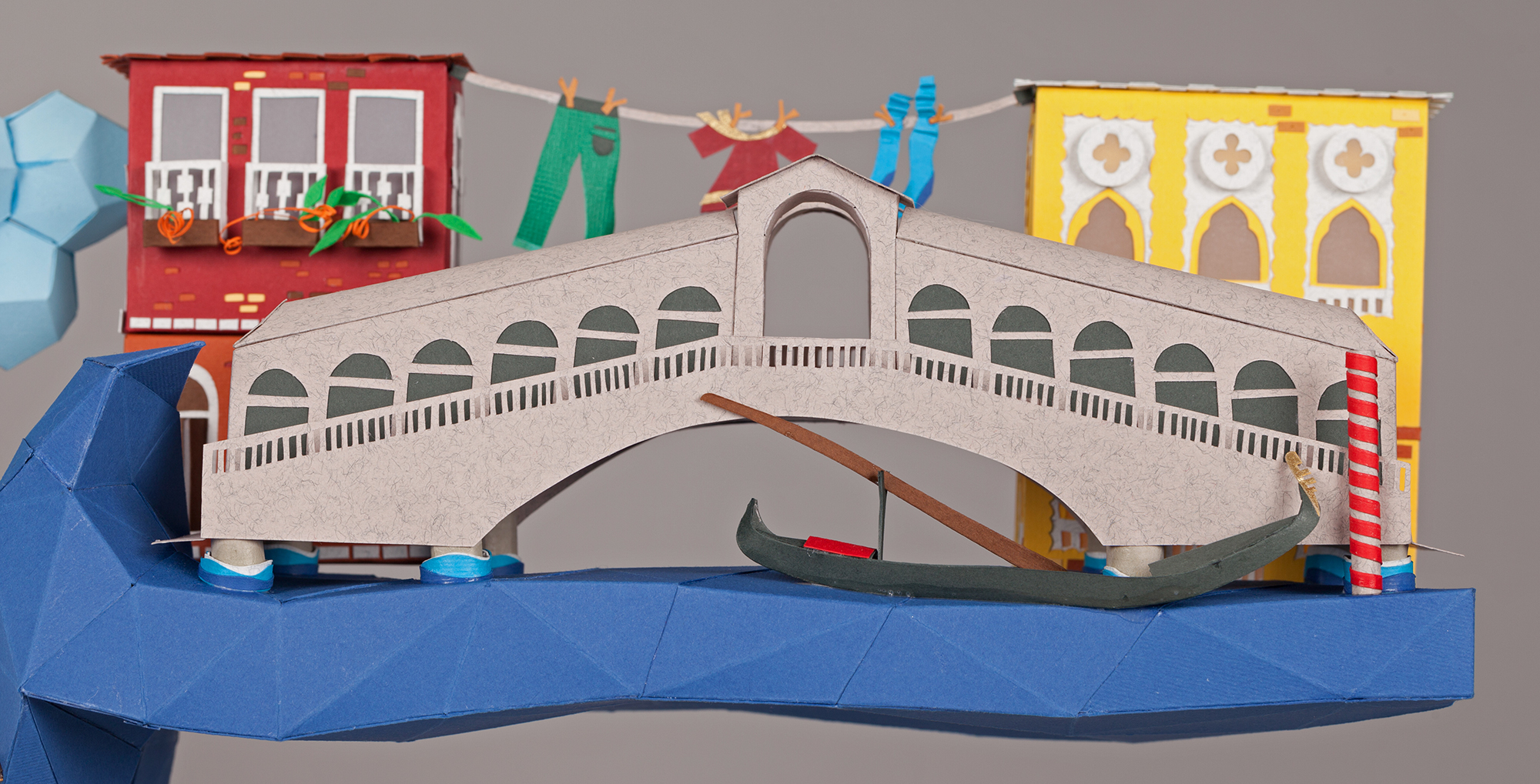 3D Letters for Silk Road Film Festival Crafted From Paper - Venice
