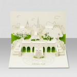 Laser Cut Pop Up Kirigami Cards of Landmarks from New York - Central Park
