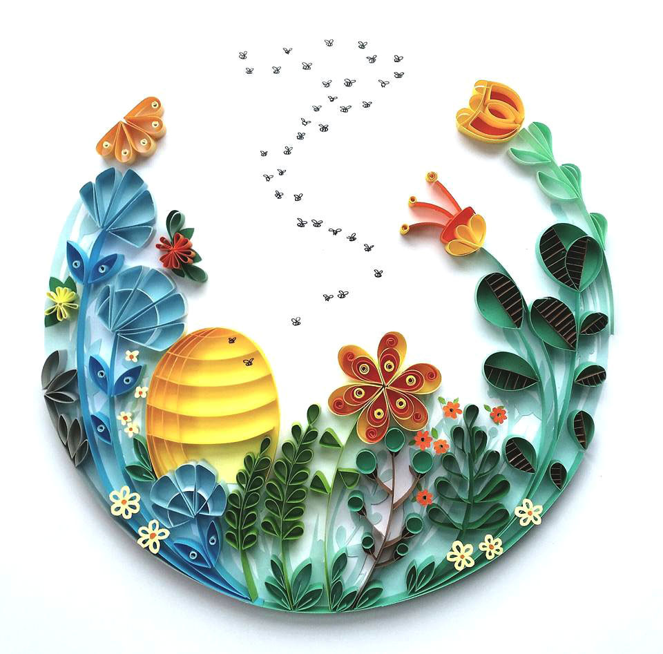 Whimsical Quilled Illustrations by Meloney Celliers
