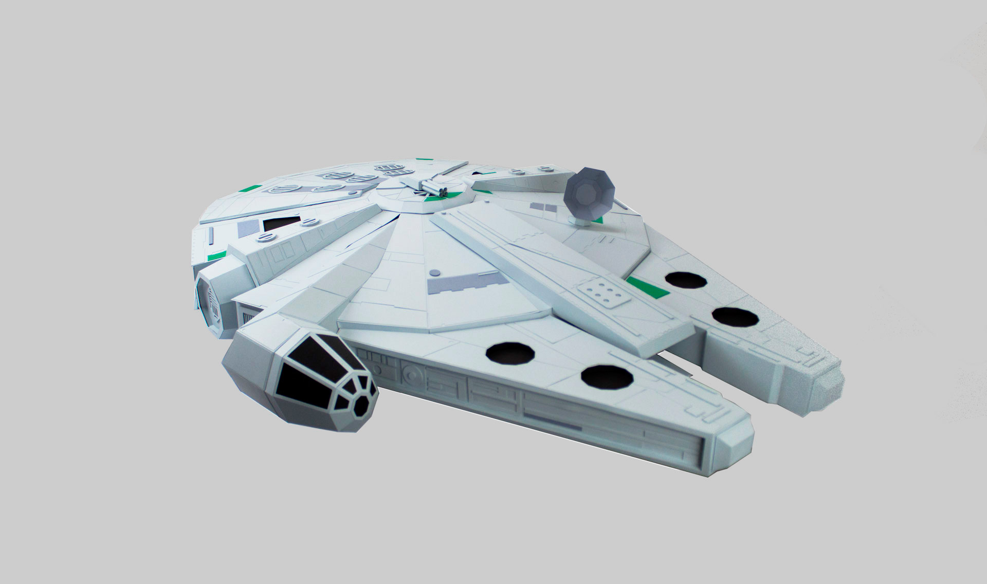 The Paper Strikes Back, Paper Craft Millennium Falcon by Oupas Design