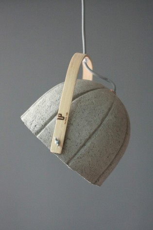 Dome +: A Lightweight Lamps Crafted from Paper and Cement by Rita Koralevis