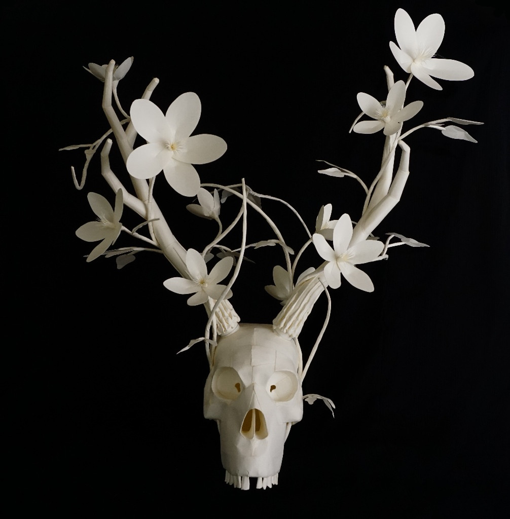 Eerily Beautiful and Macabre Paper Sculptures by Sinan Soykut
