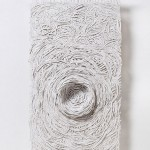 Textural Monochrome Hand-Torn Paper Tapestries Inspired by Nature - Nesting 2