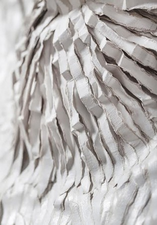 Textural Monochrome Hand-Torn Paper Tapestries Inspired by Nature - Tapestry