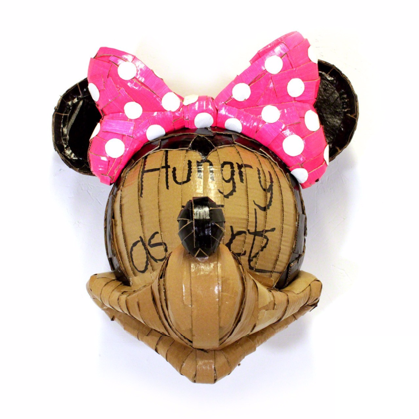 Laurence Valliéres Upcycled Cardboard Strip Animal Sculptures - Minnie Mouse