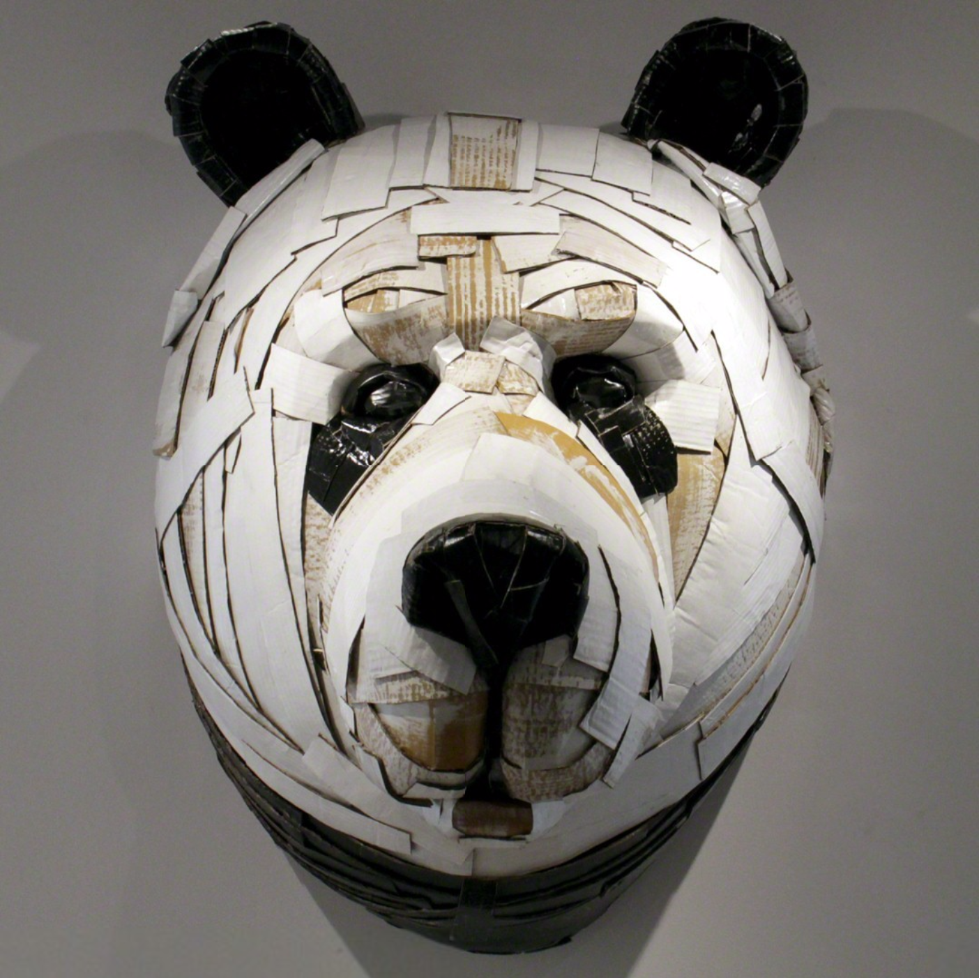 Laurence Valliéres Upcycled Cardboard Strip Animal Sculptures - Panda