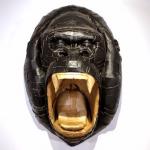 Laurence Valliéres Upcycled Cardboard Strip Animal Sculptures - Screaming Gorilla