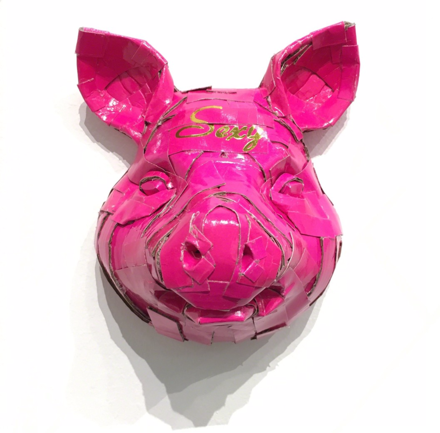 Laurence Valliéres Upcycled Cardboard Strip Animal Sculptures - Sexy Cochon