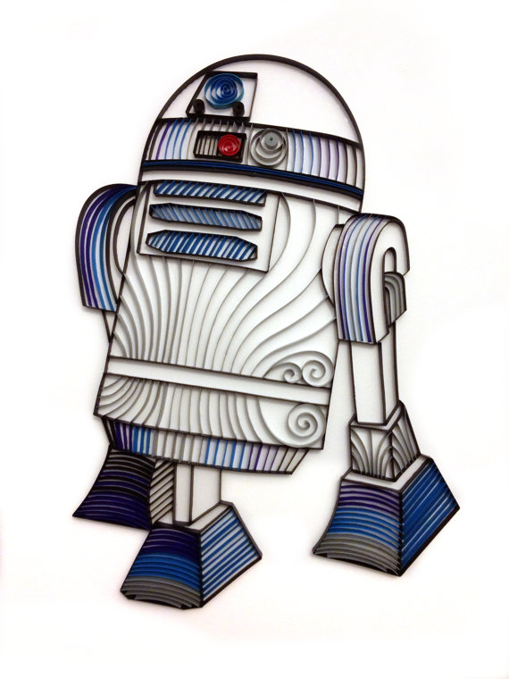 10 Star Wars Paper Projects to Celebrate Rogue One Movie Release - Alia Bright Quilled R2-D2