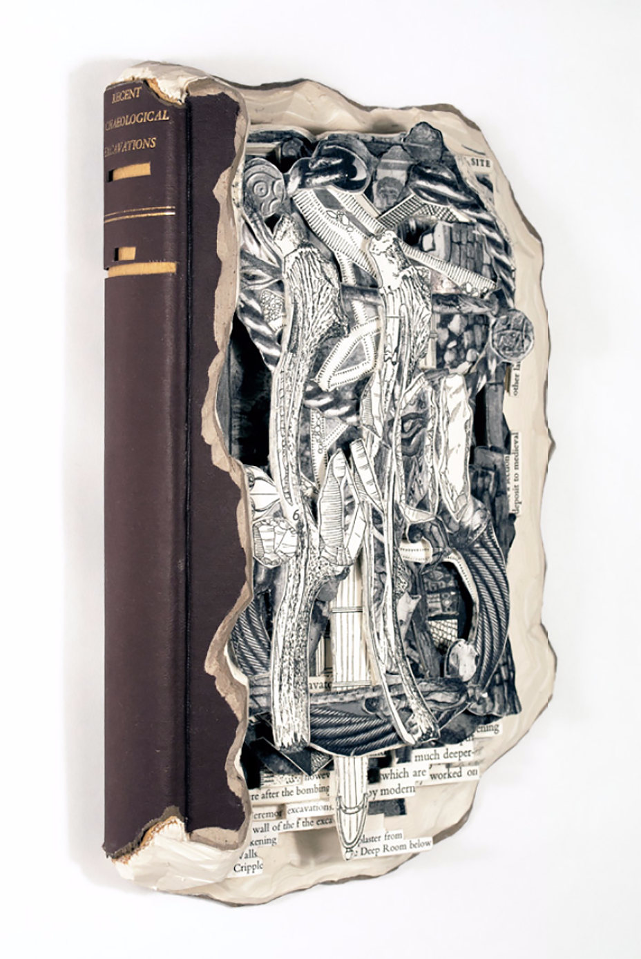 Carved Encyclopedias Transformed Dada-Inspired Sculptures