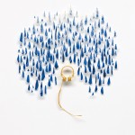 Cybèle Young Creates Beautiful Minature Worlds Out Of Fine Paper - Headphones