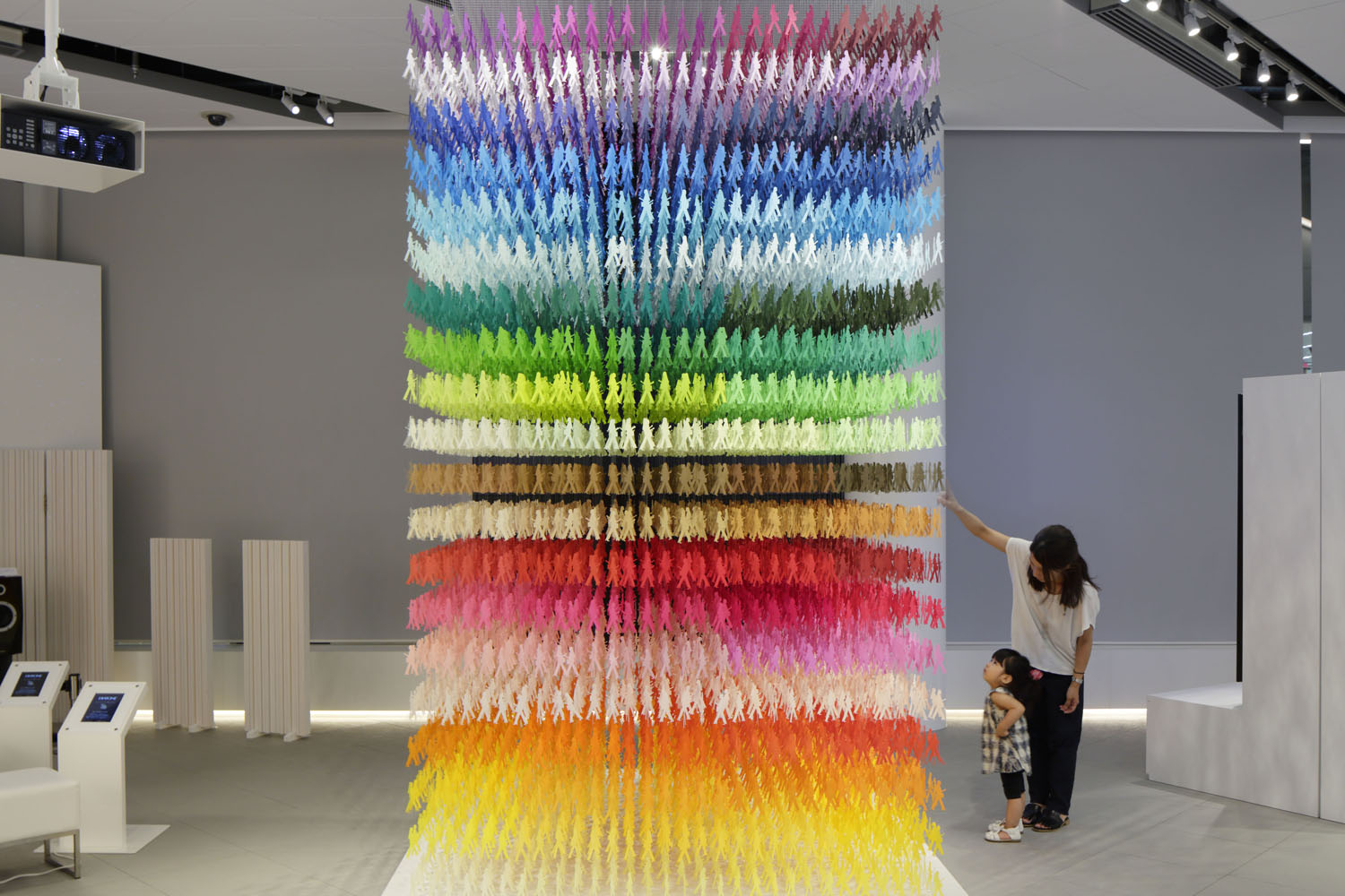 Giant Paper Sculptures That Use Color to Divide and Establish Space Within a Room by Emmanuelle Moureaux