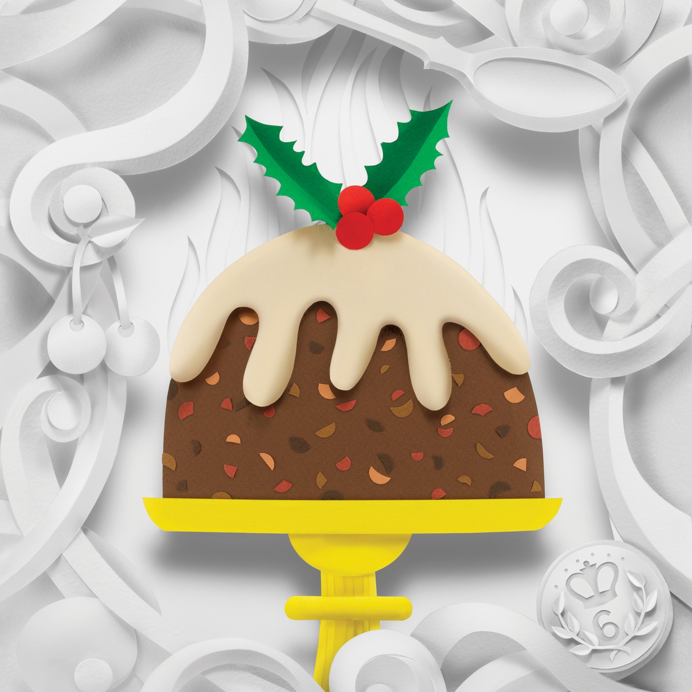 Delightful Christmas Stamp Collection Handcrafted in Paper by Helen Musselwhite - Figgy Pudding