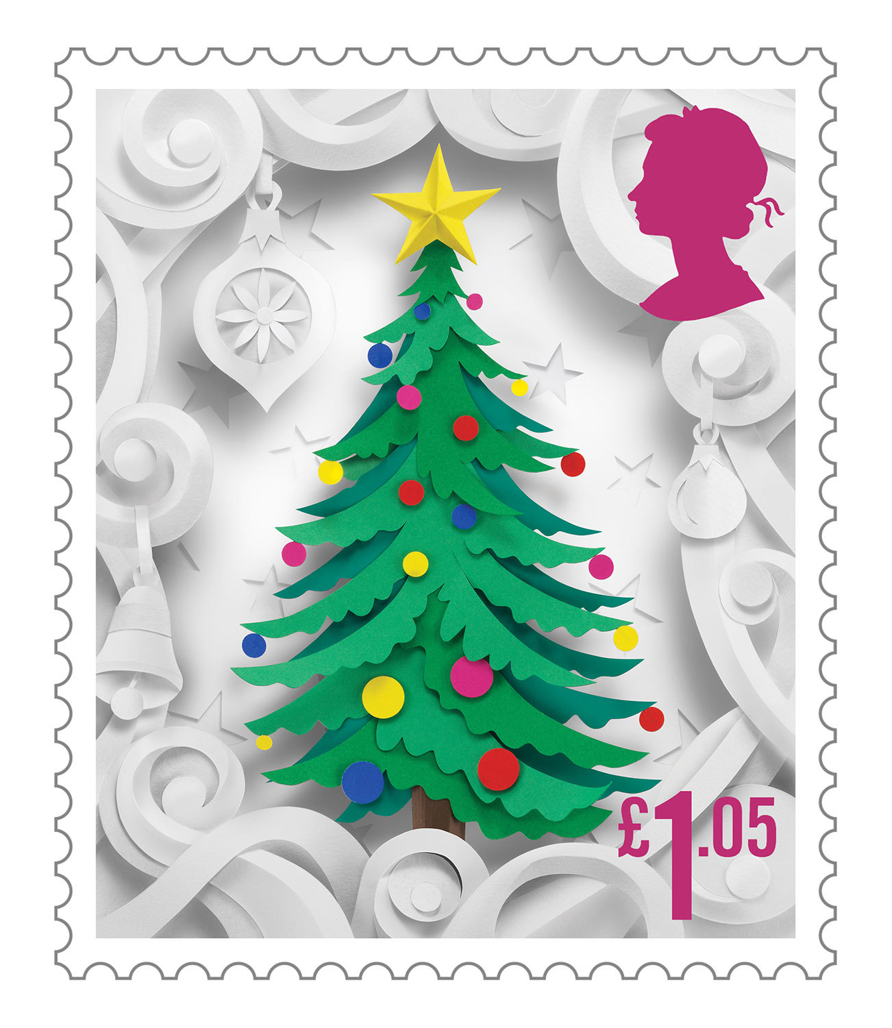 Delightful Christmas Stamp Collection Handcrafted in Paper by Helen Musselwhite - Christmas Tree