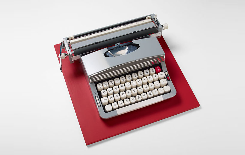Realistic Paper Sculptures That Play With Scale by Mikako Azakami - Grey Typewriter