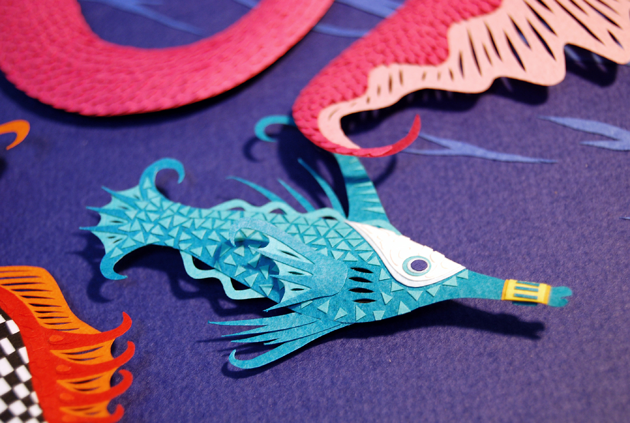 Marcelo Kato Creates Colorful Mediterranean Sea Inspired Cut Paper Illustrations - Golden Coral