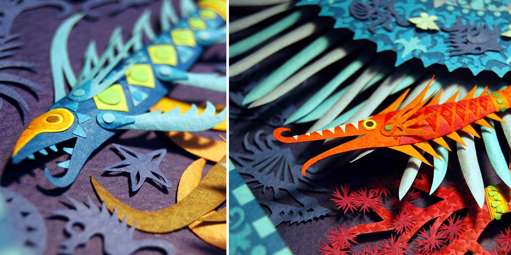 Marcelo Kato Creates Colorful Mediterranean Sea Inspired Cut Paper Illustrations - Sea Time