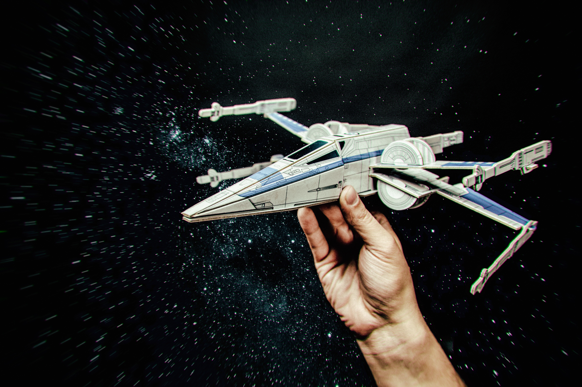 10 Star Wars Paper Projects  to Celebrate Rogue One Movie Release - Paper X Fighter by Matthew Hawkins