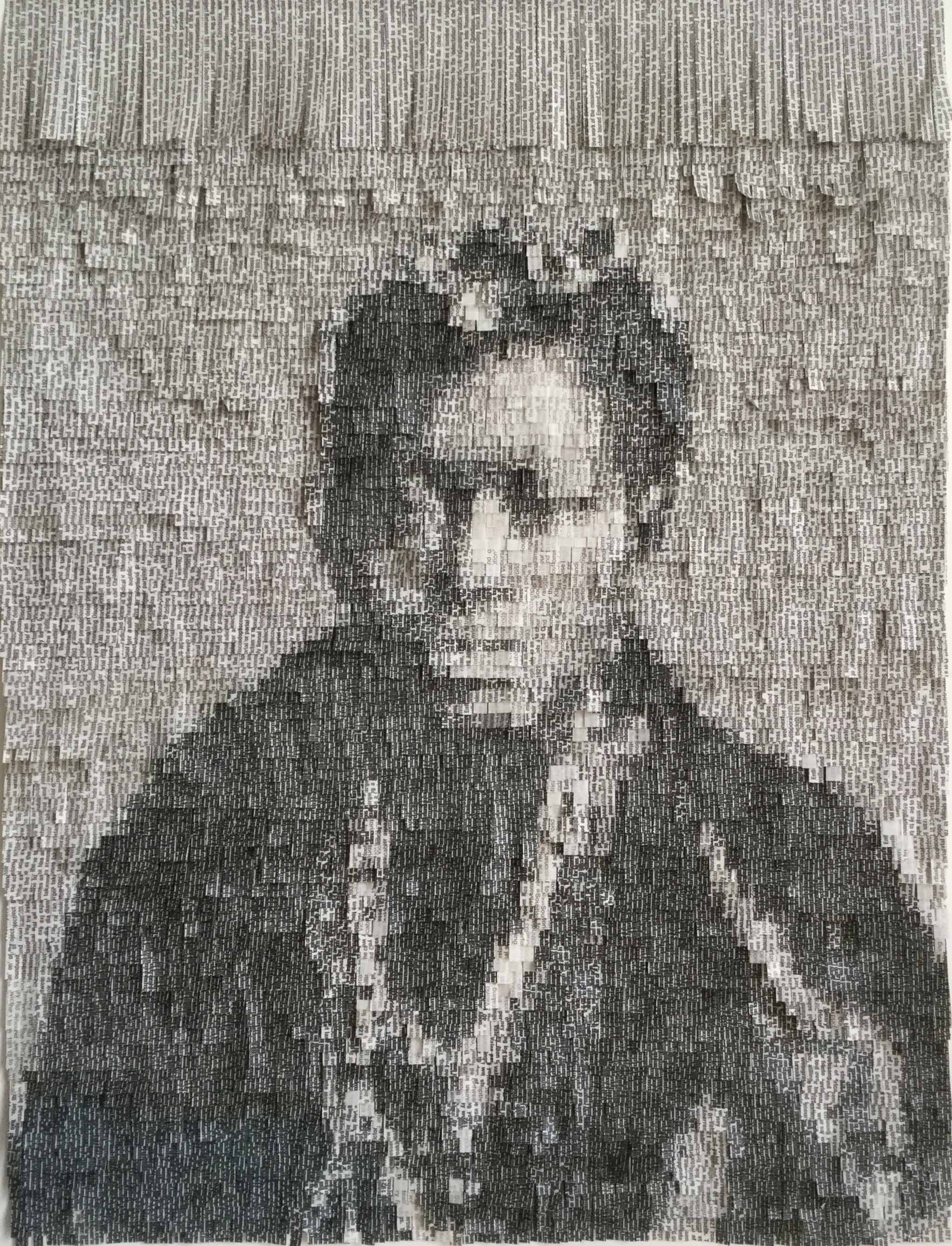 Thousands of Paper Strips Delicately Placed to Create Stunning Portraits by Nathalie Boutté - African Choir