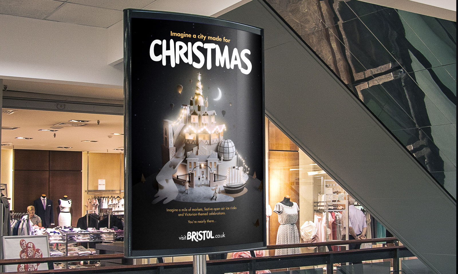 Sam Pierpoint Creates Magical Campaign Promoting Christmas in Bristol Crafted in Paper - Poster
