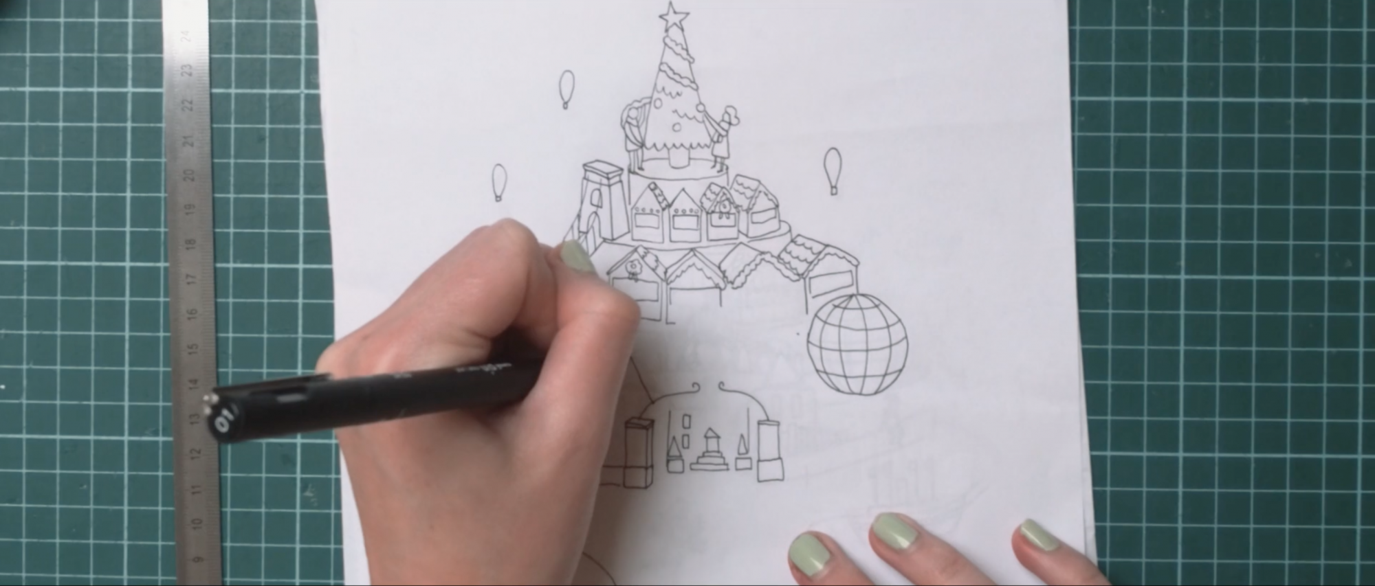 Sam Pierpoint Creates Magical Campaign Promoting Christmas in Bristol Crafted in Paper - Sketches